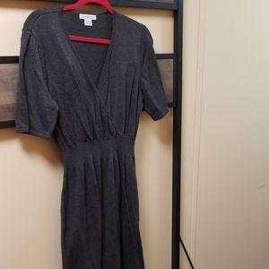 Women's Gray Sweater Dress
